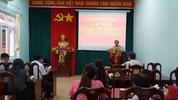 Tọa đàm kỷ niệm ngày truyền thống các ban xây dựng Đảng và Văn phòng cấp ủy