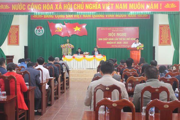 Hội nghị Ban Chấp hành Đảng bộ Khối các cơ quan và doanh nghiệp tỉnh lần thứ 3, nhiệm kỳ 2020 - 2025