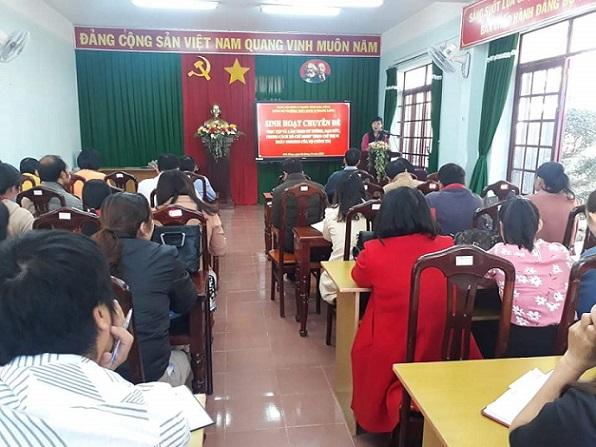 Đảng ủy Trường THPT DTNT N'Trang Lơng tổ chức sinh hoạt chuyên đề học tập và làm theo tư tưởng, đạo đức, phong cách Hồ Chí Minh năm 2020