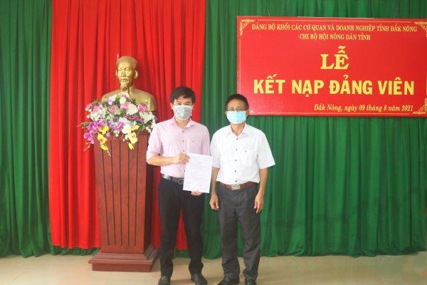Chi bộ Hội Nông dân tỉnh Đắk Nông tổ chức Lễ kết nạp đảng viên