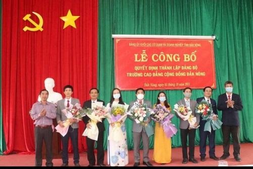 Công bố Quyết định thành lập Đảng bộ Trường Cao đẳng Cộng đồng Đắk Nông